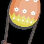 huevo pascua volando