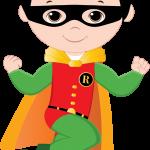 super heroes animado clipart robin