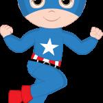 super heroes clipart animado capitan america 222