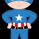 super heroes clipart animado capitan america 6