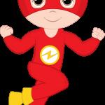 super heroes clipart animado flash 2