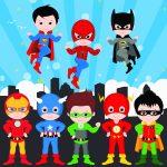 super heroes clipart animado personajes