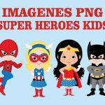 Super Héroes Kids Clipart PNG transparente