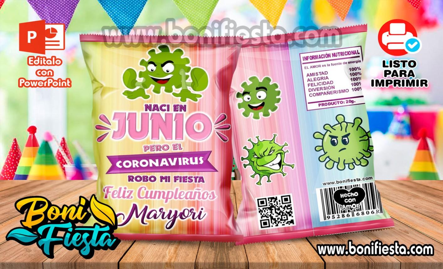 Junio Coronavirus Girl ChipsBags