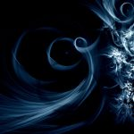 33 Swirly Blue Abstract