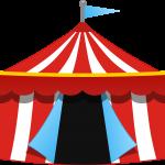 circo infantil clipart carpa rojo