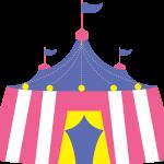 circo infantil clipart carpa rosada