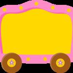 circo infantil clipart carro cuadro
