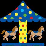 circo infantil clipart carrusel