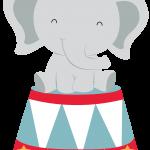 circo infantil clipart elefante 1056
