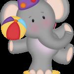 circo infantil clipart elefante 123