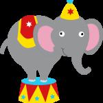circo infantil clipart elefante