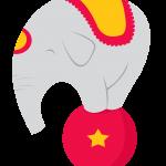 circo infantil clipart elefante 536