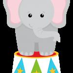 circo infantil clipart elefante tambor
