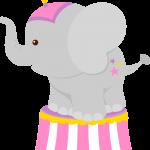circo infantil clipart elefantito