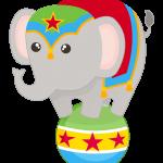 circo infantil clipart elefantito malabarista