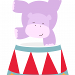 circo infantil clipart hipopotamo