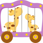 circo infantil clipart jirafa