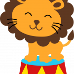 circo infantil clipart leon