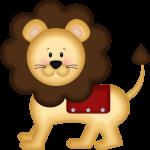 circo infantil clipart leon animado