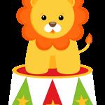 circo infantil clipart leon feliz