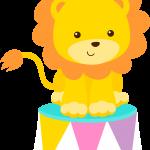 circo infantil clipart leon tambor