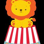 circo infantil clipart leon123