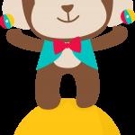 circo infantil clipart mono 12