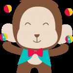 circo infantil clipart mono 13