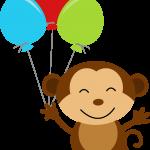 circo infantil clipart mono