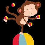 circo infantil clipart mono 46