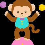 circo infantil clipart mono malabarista