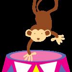 circo infantil clipart mono tambor