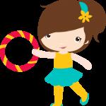 circo infantil clipart nina
