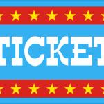 circo infantil clipart ticket