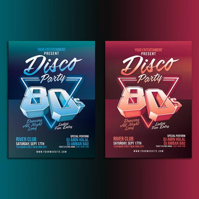 80 s disco party