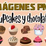 Imagenes de Cupcakes y Chocolates Clipart PNG transparente