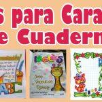 Ideas para Caratulas de Cuaderno