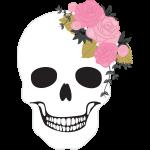 Template Pretty skulls 01