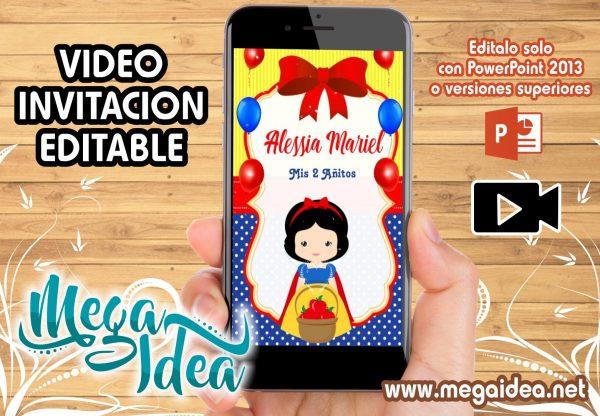 Video Invitacion Blanca Nieves