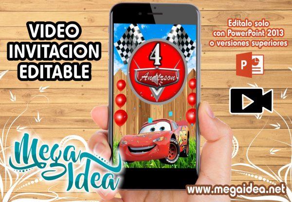video invitacion cars