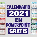 Calendario 2021 en Powerpoint GRATIS