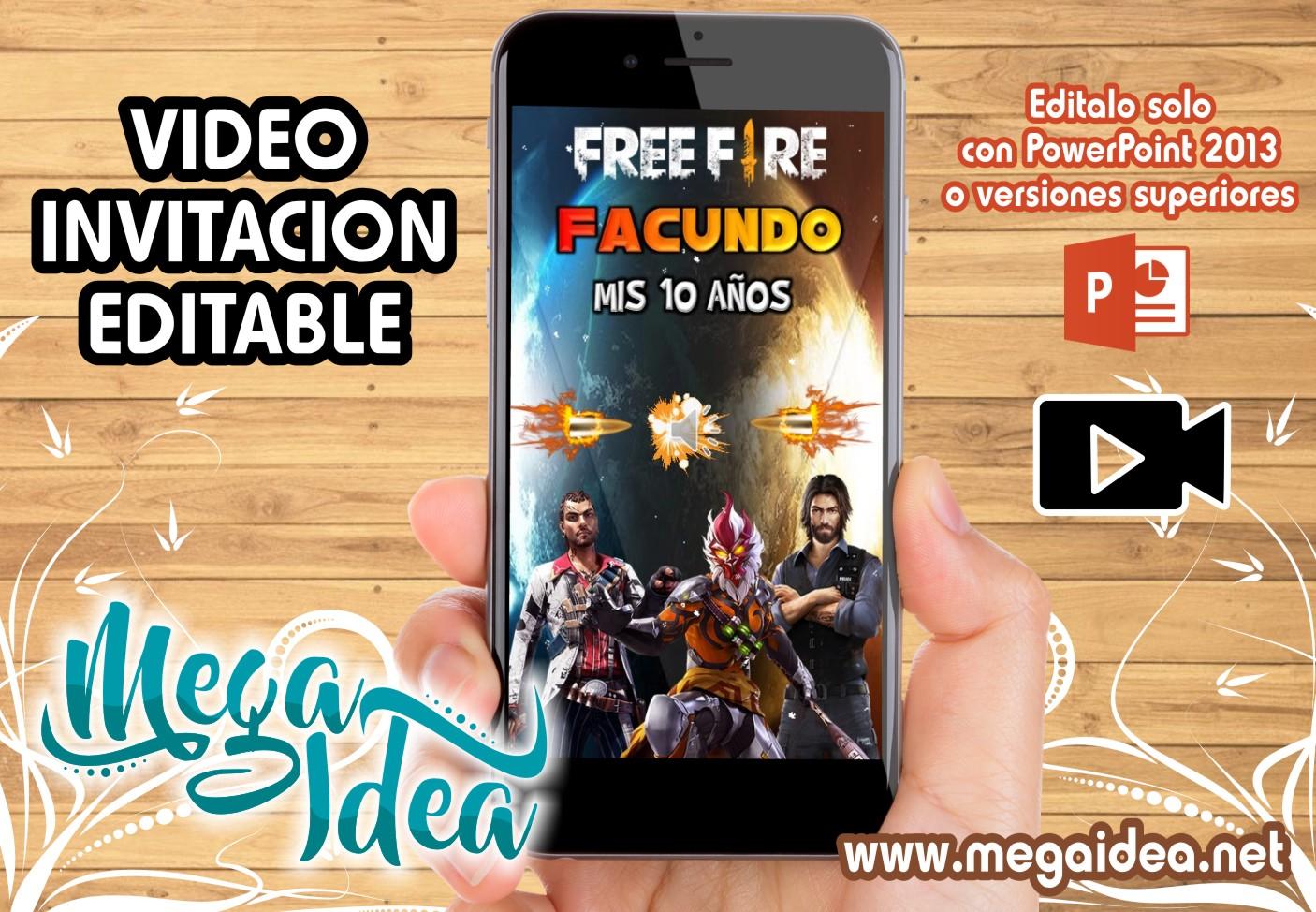 VIDEO Invitacion FREE FIRE
