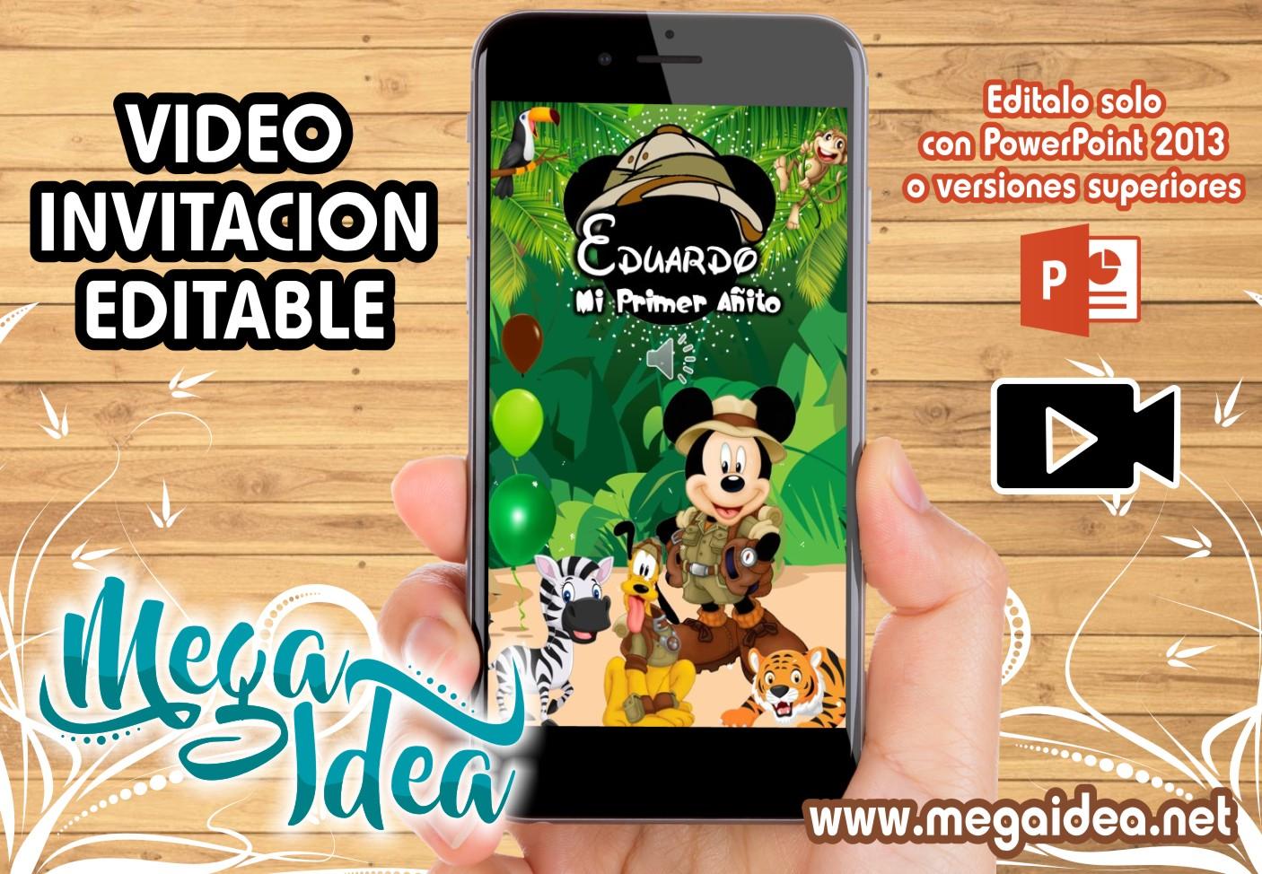 VIDEO Invitacion Mickey Safari