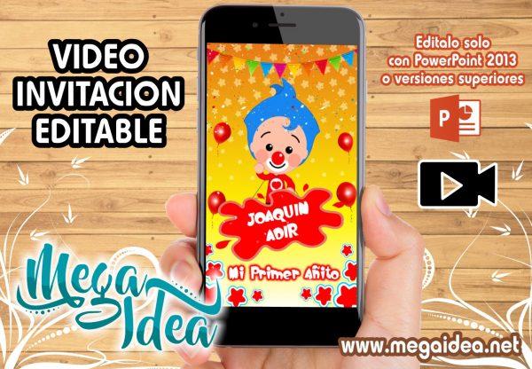 Video Invitacion Payaso Plim Plim