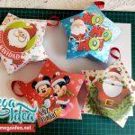 4 Cajitas Estrellas para Navidad Editable en Powerpoint