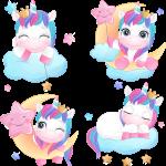 coleccion unicornio vector