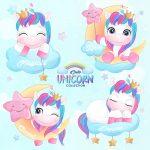 Vectores Unicornio Infantil Editables en EPS GRATIS