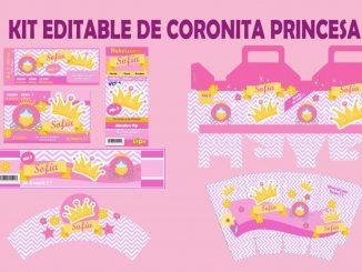 kit coronita princesa