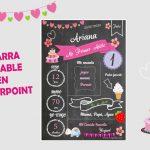 Pizarra Editable para cumpleaños en Powerpoint Gratis